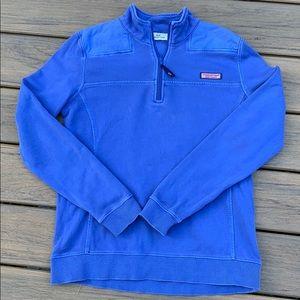 Vineyard Vines 1/4 Zip Blue Sweatshirt